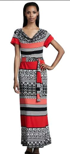 Emilio Pucci Belt Ethnic Long Dresses is one of the best selling Emilio Pucci Long Dresses which has won great fame throughout the world. Keep the focus on the pretty pattern with blush accessories and gold jewelry.