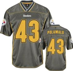 Troy Polamalu Pittsburgh Steelers Vapor Jersey by Reebok. $59.99. Make sure you are the most stylish Pittsburgh Steelers fan at the stadium with this shimmering Troy Polamalu Pittsburgh Steelers Vapor Jersey. Features screen printed tackle twill numbers with embroidery, plus team name on back, and screen printed stripes. Truly a must-have for any die-hard fan.