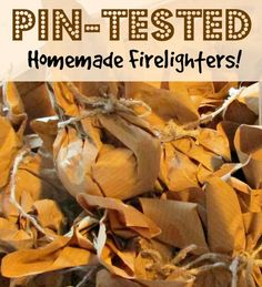 Pin-Tested! Home made Fire lighters | Craft Invaders We tested out making diy fire lighters from recycled materials - and they are fabulous! We will never buy fire starters again. We even did a burn test video so you can see how long they burn for and how smoothly! Really easy and cheap to make - its the kids new job!
