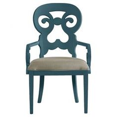 Coastal Living Retreat Wayfarer Arm Chair in English Blue     I like the color they are painted