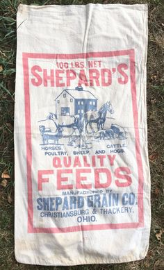 Cotton Farm Feed Sack 'Shepard's Quality Feeds by AStringorTwo