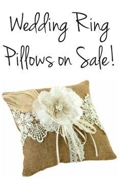 Wedding Ring Pillow Sale + HUGE List of DIY Wedding Tips! - at TheFrugalGirls.com  #weddings #thefrugalgirls