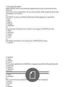 document Civil Service Reviewer, Word Problems, Words, Horse, Word Work