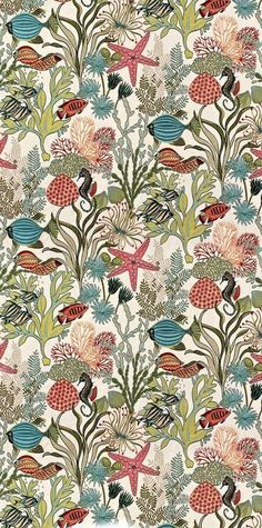 coquita bathroom a la William Morris almost Pattern Design Drawing, Surface Pattern Design, Pattern Art, Textile Patterns, Textile Prints, Textile Design, William Morris, Colorfull Wallpaper, Drawing Wallpaper