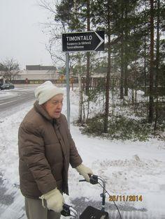 Ulkoilua talvisäässä.