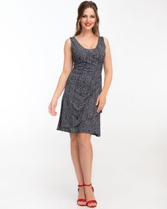 bf2b99d0a5 Breastfeed discreetly with this black   white dot wrap dress