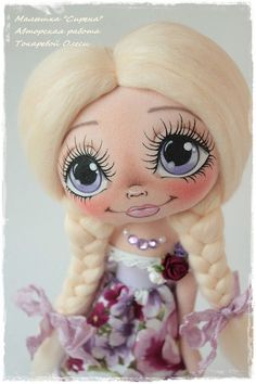 Doll Face Paint, Holly Hobbie, Doll Eyes, Bear Doll, Sewing Dolls, Doll Maker, Doll Head, Felt Diy, Soft Dolls