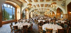 Victoria Ballroom at the Fairmont Chateau Lake Louise