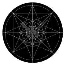 Third Dimensional Sacred Geometry Wall Clock