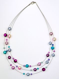3 Strand Miracle bead Necklace