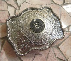 Letter E Excellence Token Silver Belt by StepOriginals on Etsy