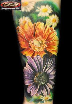 Realistic Flowers Tattoo by Max Pniewski | Tattoo No. 12562