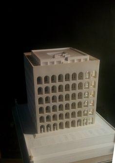Palazzo della Civiltà Italiana, Roma, EUR, scala 1:300 | Lucio Tuzza