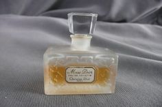 Christian Dior MISS DIOR edt MINI Miniature Perfume frosted bottle vintage