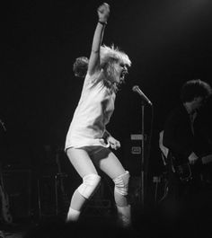 Debbie Harry performing with Blondie at the Roundhouse in Chalk Farm (northwest London), 1978.