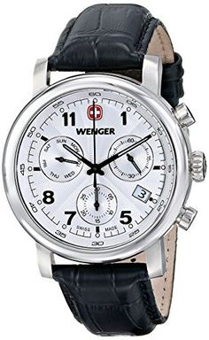 Wenger herren armbanduhr analog quarz leder 70480