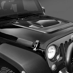 Fortec Custom Jeeps, Inc. - Jeep Parts & Accessories :: Jeep® Exterior :: AEV Heat Reduction Hood in Black E Coated Primer for 07-up Jeep® Wrangler & Wrangler Unlimited JK
