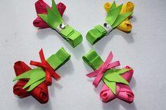 bouquet ribbon clip $4.50