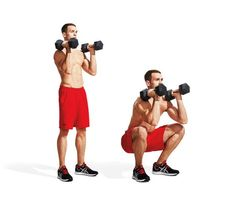 1. Dumbbell Front Squats