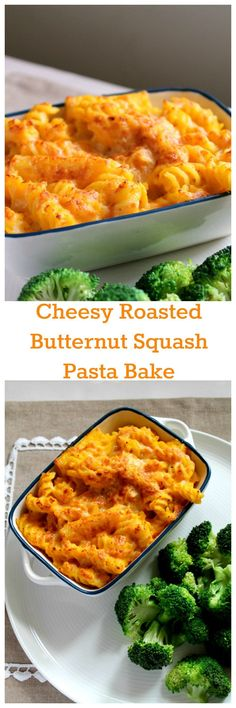 Cheesy roasted butternut squash pasta bake