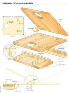 Making Adirondack Chair Desk - Outdoor Furniture Plans