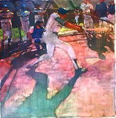 Batting Practice 1976, painting by Bernie Fuchs.