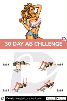 Friddle - Welcome my homepage Fitness Herausforderungen, Fitness Workout For Women, Heath And Fitness, Fitness Motivation, Abs Workout Routines, Tummy Workout, Ab Workouts, 30 Day Ab Challenge, Workout Challenge