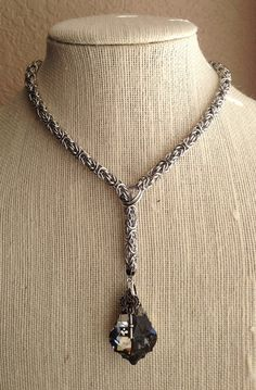 Chainmaille Byzantine Lariat Necklace with by LucidDreamsJewelry, $45.00