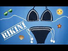 DIY How to Crochet a Bikini (Kako heklati bikini) - YouTube