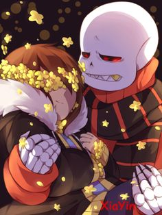 Flowerfell Sans x Frisk Undertale Gif, Frans Undertale, Undertale Drawings, Sans X Frisk, Fan Fiction, Toby Fox, Rpg Horror Games, Underswap, Pokemon