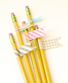Washi Tape Pencils Tutorial