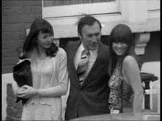 Lee Montague as Colly Kibber in the Sweeney, with two 'friends' who had trouble keeping their clothes on in this episode! 'Selected Target.'