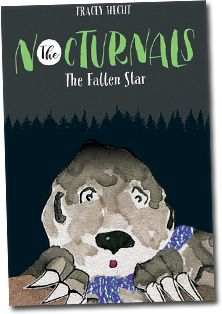 (The Nocturnals) In The Fallen Star, Dawn, Tobin and Bismark awaken one evening to a disaster: all of the forest's pomelos have been mysteriously poisoned! As the Nocturnal Brigade sets out to investigate, they encounter a mysterious aye-aye who claims monsters from the moon are to blame.