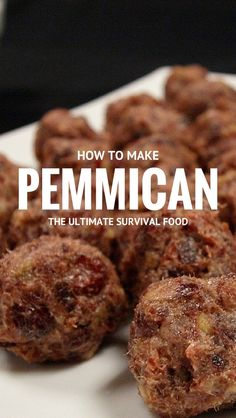How to make Pemmican the ultimate survival food the correct way. #pemmican #survival #survivalfood #beefjerkey #emergencyfood