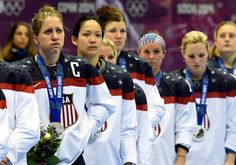Tragic faces of silver.  You never win the silver, it's losing the gold - Women's U.S. hockey...great job ladies!
