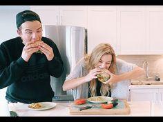 Sweet Potato Burger w/ Avocado   HEALTHY + VEGAN - YouTube