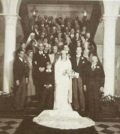 2 February 1931 - photo taken of the wedding reception of Princess Cecilie of Greece and Denmark and George Donatus of Hesse, after their religious service, having had the civil ceremony required by German law several days earlier.