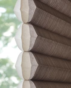 Honeycomb Duette shades aren't just stylish, they're efficient too. These shades are engineered to trap air in distinct pockets in both cold and warm climates to create insulation that lowers your energy consumption (and bills)! Honeycomb Blinds, Honeycomb Shades, Roller Shades, Roller Blinds, Window Coverings, Window Treatments, Horizontal Blinds, Cellular Shades, Luminous Colours