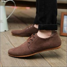 FU British Mens Casual Lace Slip On Loafer Shoes Moccasins Driving Shoes Size 9 Mens Slip On Loafers, Casual Loafers, Casual Shoes, Men Casual, Suede Shoes, Loafer Shoes, Men's Shoes, Shoes 2017, Flat Shoes