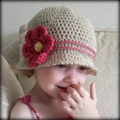 CROCHET PATTERN Cuteness Cloche Hat  Baby to by hollanddesigns, $4.99