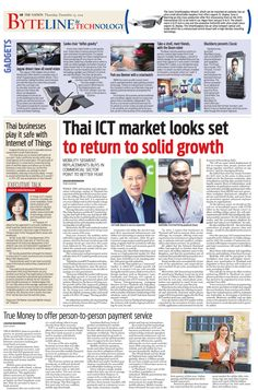 Thai ICT market looks set to return to solid growth  -- The NATION's Byteline and Technology, December 25, 2014