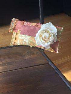 Embrague de seda con seda rosa blanca por birypa en Etsy