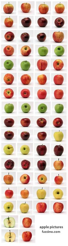 Apples and colours. Could use this as an inspiration when we talk about differences in all of us.