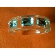 ICE - Clear Bangle Bracelet with Faceted Faux Stone Accents - AVON