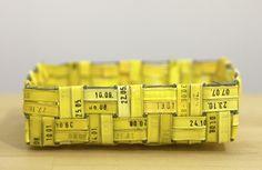 Yellow basket by Outi Martikainen