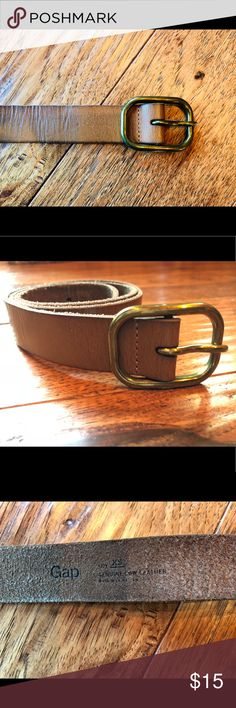 "GAP belt The color is more of a sand vs ""tan"" FYI & buckle is antique gold.  In brand new condition. Genuine cow leather GAP Accessories Belts"