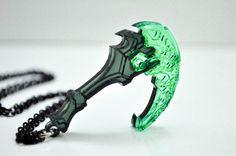 League of Legends Thresh Scythe Necklace Cosplay by TheTrinketSlot, $14.00