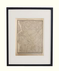 Vintage Framed City Map, Brooklyn - http://www.highstreetmarket.com/collections/home-decor/products/vintage-framed-city-map-brooklyn