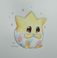 Togepi Pokemon - Drawing by @ChillAcrylic