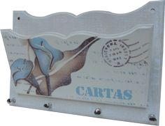 PORTA CORRESPONDÊNCIA - 20X25-FLOR COPO DE LEITE(1326) 15X20-POEMA FELICIDADE(1150) 14X14-CARTAS(1135)